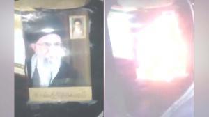 Zanjan - Khamenei torched
