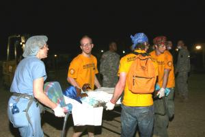 Volunteer Ministers helping medical personnel in Haiti