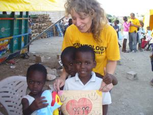 Helping some of the many who were orphaned following the earthquake