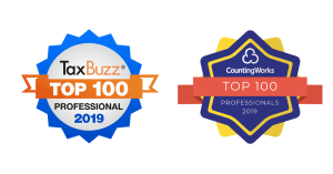 TaxBuzz Top 100 and CountingWorks Top 100 Badges
