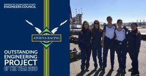 Winners of the prestigious Outstanding Engineering Project of the Year Award, Athena Racing a STEM education program for girls, is honored to be included with a decorated panel of winners.