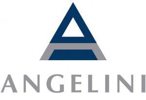 Angelini Pharma Inc, Navy, Gray Triangle shaped logo
