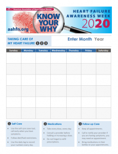 """The """"Know Your Why"""" calendar was designed for patients to track their diet, medications and appointments."""
