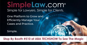 See SimpleLaw at ABA TECHSHOW Booth #510