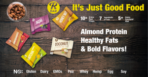 RBar Protein Bars are Available in 5 Bold Flavors with 10g of Almond Protein