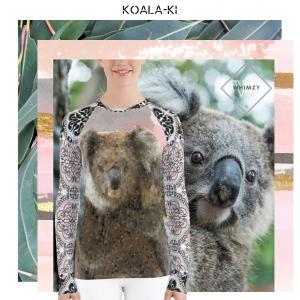 koala australia swim rashguard