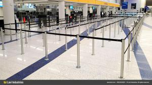 Magnetic-Based Stanchion Install in Terminal 7 at LAX