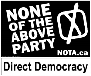 None of the Above Direct Democracy Party
