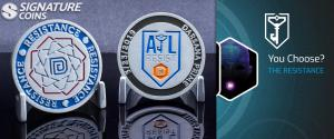 Anomaly events, like Darsana Prime 2019, bring thousands of people together across the globe and challenge coins like these are created in honor of the event.