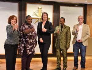 Several Tampa religious community leaders spoke, Reverend Martha Stilson, Reverend Linda, Human Rights Activist Diane Stein, Pastor Felice Kakure and Bennie Godesh.