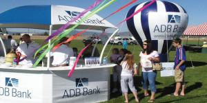 Gazebos and canopies in use at ADB bank