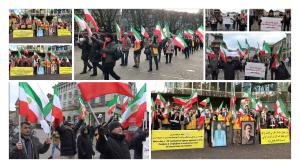 Members of Iranian diaspora and the supporters of the MEK, rally in Canada, Denmark, Sweden, Norway, Germany, United States, Nederland