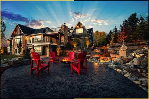 Tazscapes Springbank Landscaping Calgary Project - Night4-1
