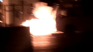 Iran: Revolutionary Prosecutor's Office in Tehran's 10th District torched