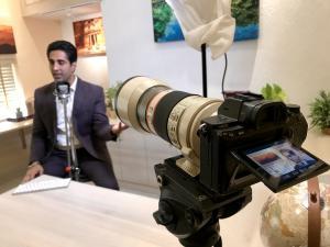 Keynote Speaker Simerjeet Singh while filming videos for the YouTube Channel