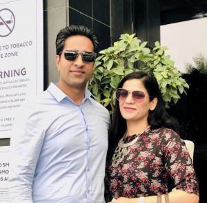 Simerjeet Singh with his partner and co-founder of Cutting Edge Learning Systems Tarveen