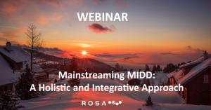 Image with the title of the webinar: Mainstreaming MIDD: A Holistic and Integrative Approach