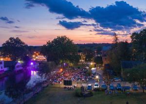 Chagrin Documentary Film Festival crowd enjoys an outdoor film screening