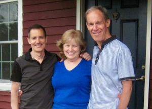 LE&RN President & CEO William Repicci (left) with Deb Carey and her husband Jim Carey