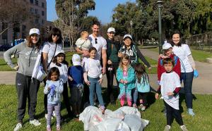 Over a dozen kids and parents helped clean up the park in Pasadena as part of The Way to Happiness project, sponsored by the Church of Scientology of Pasadena.