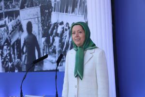 Maryam Rajavi speaking at the anniversary of the 1979 anti--monarchic revolution in Ashraf-3 - February 2020