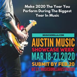 musicgorilla.com Austin 2020 Showcase 3/18-21 info: http://bit.ly/musicgorillaaustin2020