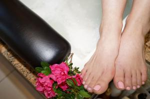 Pink pedicures by Solaya Spa & Salon
