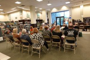 Award winning authors attract crowds at readings.