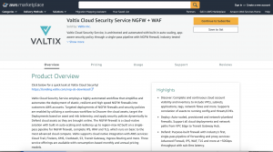 AWS Marketplace - Valtix Network Security Service