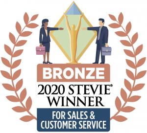 Stevie bronze level award logo for sales & customer service