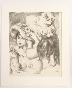 Etching, Le Chapeau Epingle, Pierre Renoir, (French, 1841-1919) signed in the plate l.r.