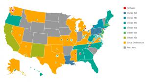 Bicycle Helmet Law in the USA (Map)