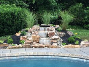 Landscaping water features, pondless waterfall