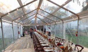 Cleartop tent rentals and decor