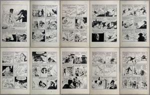 Complete ten-page, unpublished story by Frank Frazetta titled Snowman that's expected to bring $30,000-$50,000. Many of Frazetta's comic pages sell for $15,000-$30,000.