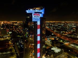 Paramount Miami Worldcenter Flies Stars & Stripes for Florida Primary