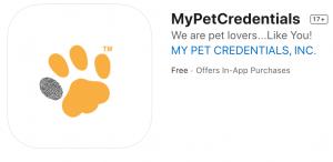 My Pet Cstoreredentials App now on app