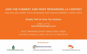 Share With Family and Friends in LA www.KickassforFood.com