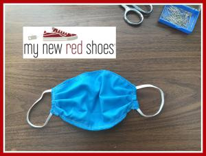 My New Red Shoes meeting the urgent needs of our community with homemade face masks for healthcare providers