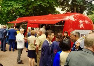 Chef Adán Medrano, from Houston, Texas, talks tacos with Russian Guests in Moscow at the US Ambassador's residence