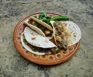 """he iconic """"Carne Guisada"""" taco served to Russian guests in Moscow at the US Ambassador's residence"""