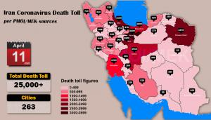 Iran: Coronavirus Update, Over 25,000 Deaths, April 11, 2020, 6:00 PM CET