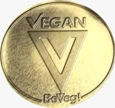 Gold Standard. Global Vegan Symbol by BeVeg. The logo for plant-based-vegan food safety and sustainability. Represents sanitary products and conditions uncontaminated by animals.