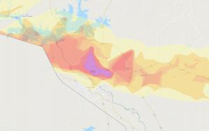 Hail storm impact map overview. - Interactive Hail Maps