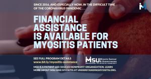 Myositis Support and Understanding financial asssistance program