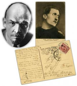 Letter written and signed by Russian leader Vladimir Lenin (1870-1924), penned between the failed revolution of 1905 and the successful revolution of 1917 (est. $50,000-$60,000).
