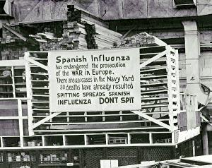 This is a sign from the Spanish flu epidemic.