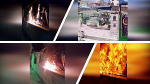 Karaj – Torching Qassem Soleimani's banner
