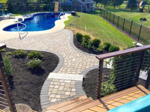 Decks and in-ground pools, backyard living features