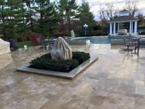 outdoor kitchen, pools, firepits, patios